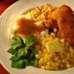 Hot Turkey Dinner